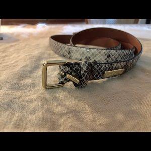 "Cole Haan new croc gold thin 1"" belt M"